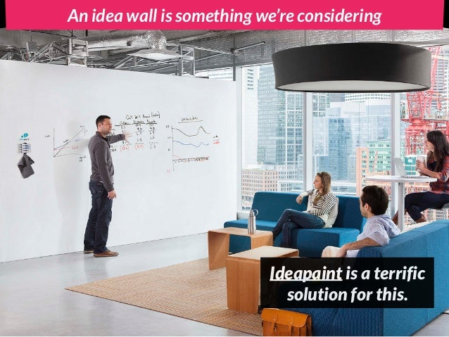 An idea wall is something we're considering Ideapaint is a terrific solution for this.