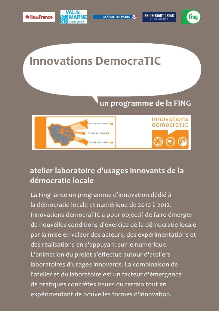 Veille sur les nouveaux usages participatifs numériques
