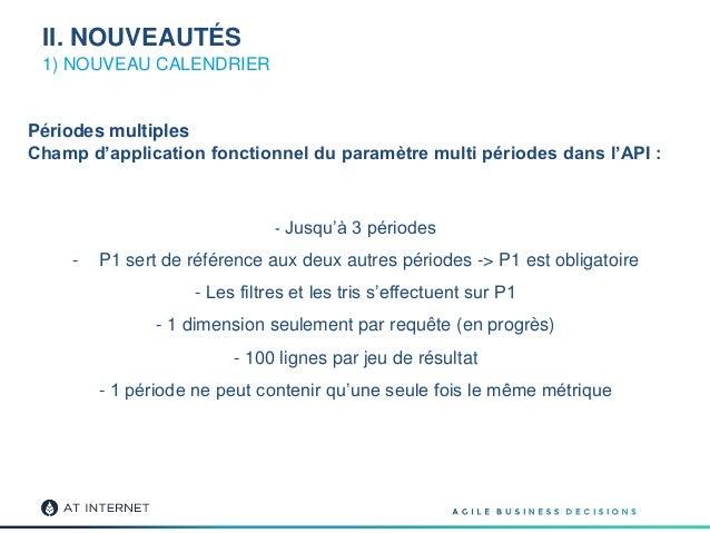1) NOUVEAU CALENDRIER - Jusqu'à 3 périodes - P1 sert de référence aux deux autres périodes -> P1 est obligatoire - Les fil...