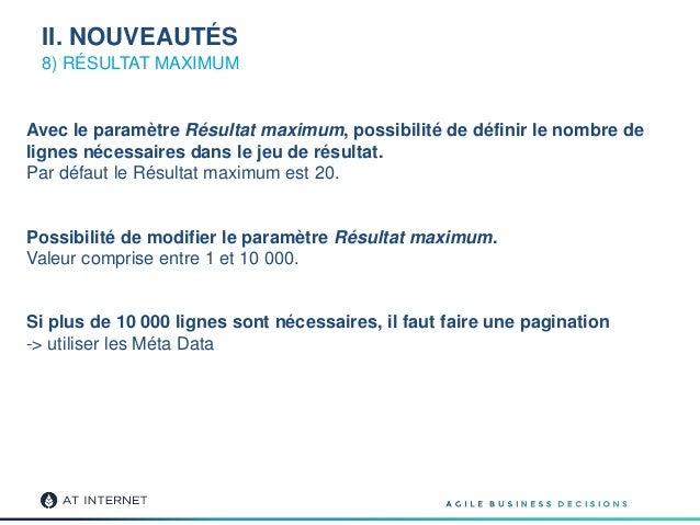 8) RÉSULTAT MAXIMUM Avec le paramètre Résultat maximum, possibilité de définir le nombre de lignes nécessaires dans le jeu...