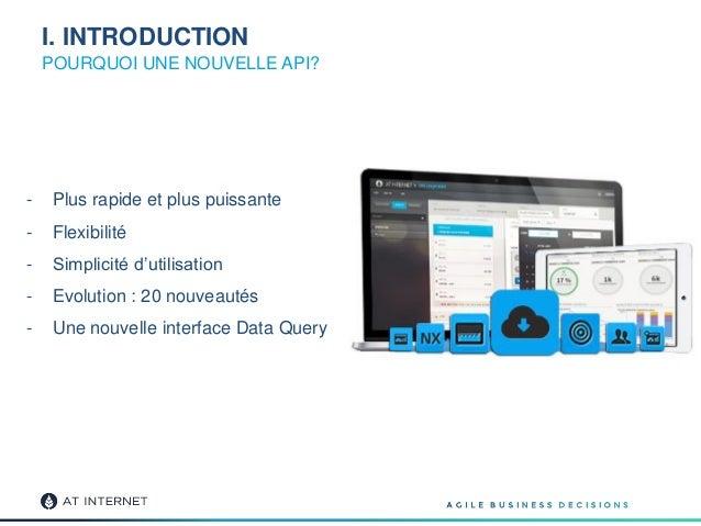 I. INTRODUCTION POURQUOI UNE NOUVELLE API? - Plus rapide et plus puissante - Flexibilité - Simplicité d'utilisation - Evol...