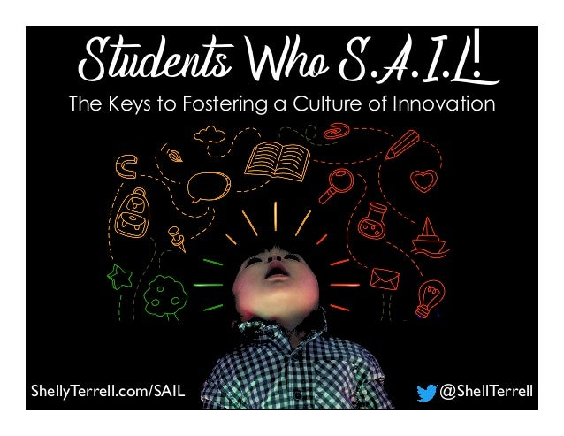 ShellyTerrell.com/SAIL @ShellTerrell Students Who S.A.I.L!The Keys to Fostering a Culture of Innovation