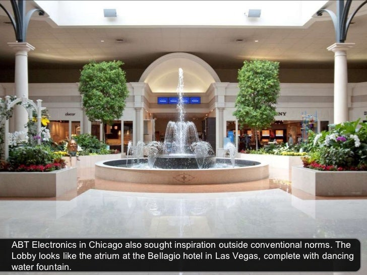 ABT Electronics in Chicago also sought inspiration outside conventional norms. The Lobby looks like the atrium at the Bell...