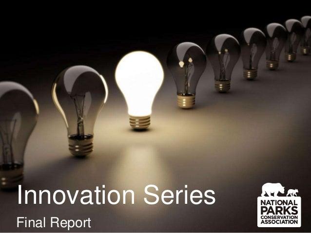 Innovation Series Final Report