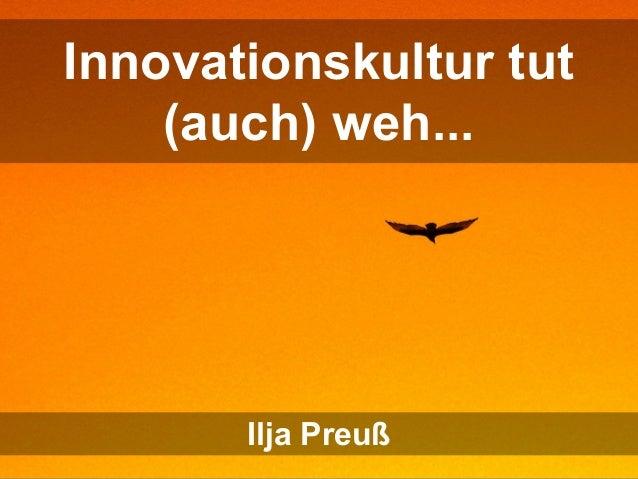 Freiraum tut (auch) weh... Sandra Reupke-Sieroux & Ilja Preuß Innovationskultur tut (auch) weh... Ilja Preuß