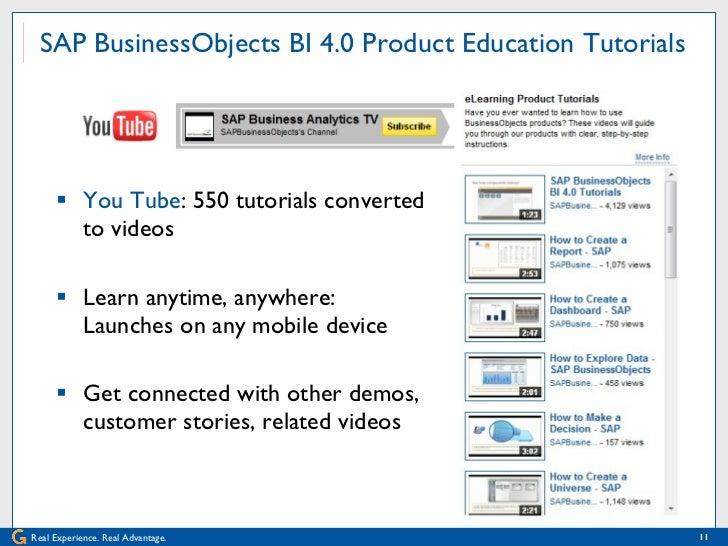 innovations in learning for sap businessobjects bi 4 0 rh slideshare net Google Analytics User Guide Computer User