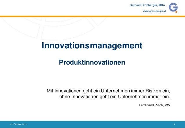 Gerhard Großberger, MBA                                                                 www.grossberger.at                ...
