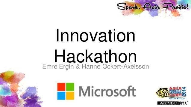 Innovation HackathonEmre Ergin & Hanne Ockert-Axelsson