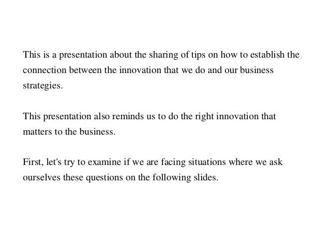 Aligning Innovation to Business  Slide 2