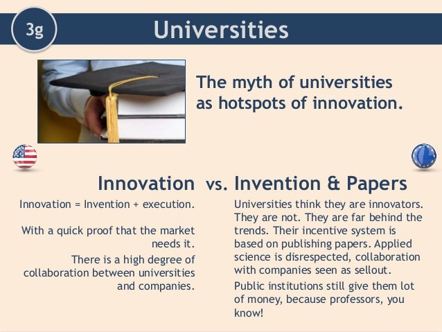 innovation and invention essay Innovation and invention are both extremely important to our society it is not surprising that many people consider the two to be synonymous, as they often have a symbiotic relationship.