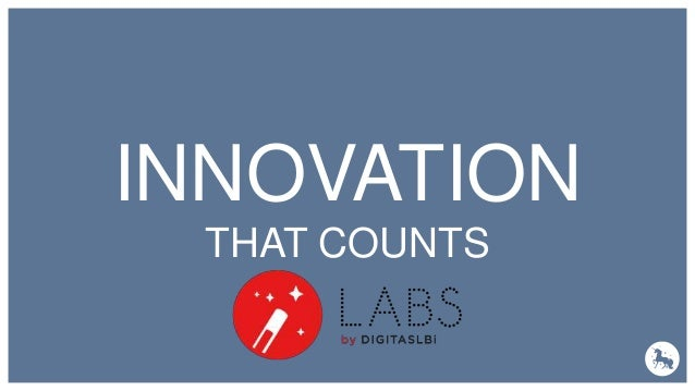 DATA & PERSONNALISATION INNOVATION THAT COUNTS