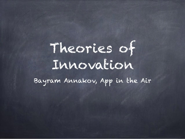 Theories of Innovation Bayram Annakov, App in the Air