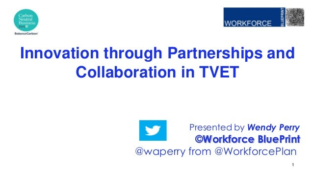 Presented by Wendy Perry ©Workforce BluePrint @waperry from @WorkforcePlan Innovation through Partnerships and Collaborati...