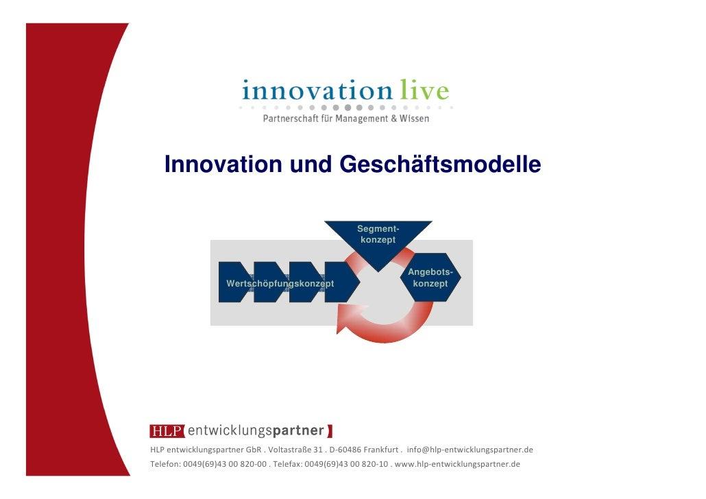 Innovation und Geschäftsmodelle                                                    Segment-                               ...
