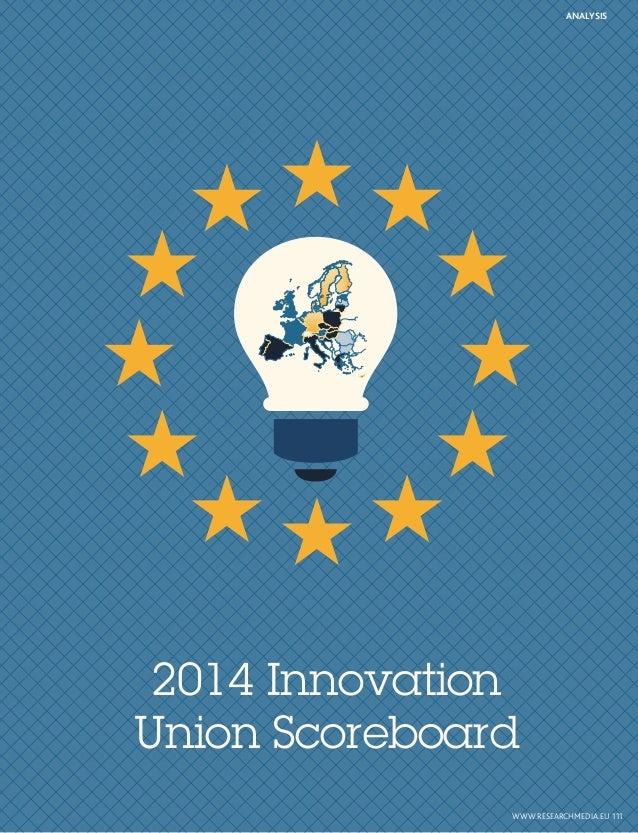 2014 Innovation Union Scoreboard ANALYSIS WWW.RESEARCHMEDIA.EU111
