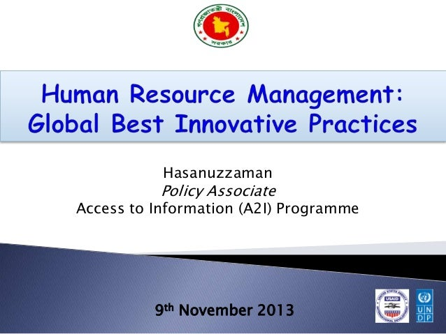 Hasanuzzaman  Policy Associate  Access to Information (A2I) Programme  9th November 2013