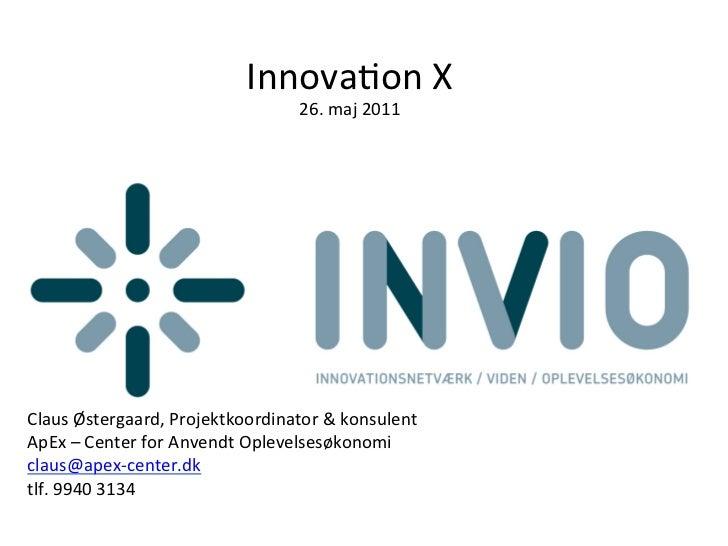 Innovaon X                                             26. maj 2011    ...
