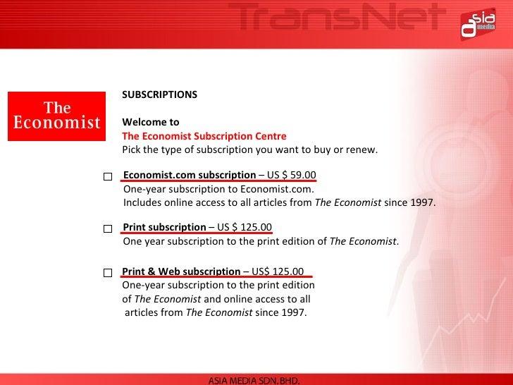 how to cancel economist subscription