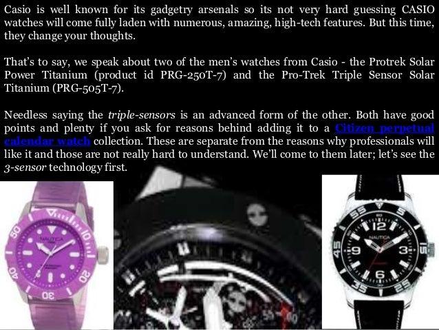Innovative and exceptional casio protrek titanium watches Slide 2