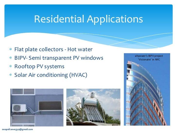 Innovative Applications Of Solar Energy
