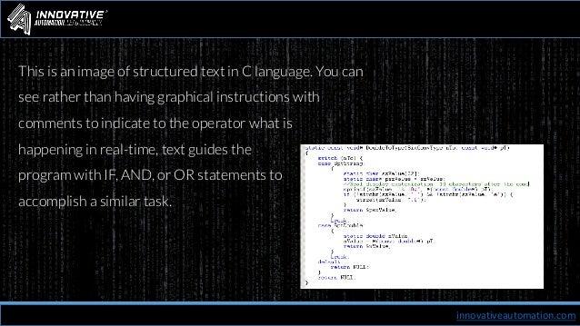 PLC Programming | Innovative Automation
