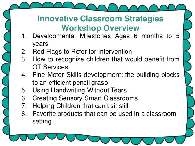Innovative Classroom Teaching Methods ~ Innovative classroom strategies workshop