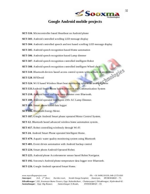 Innovative Ece Final Projects List 2013 Sooxma 1