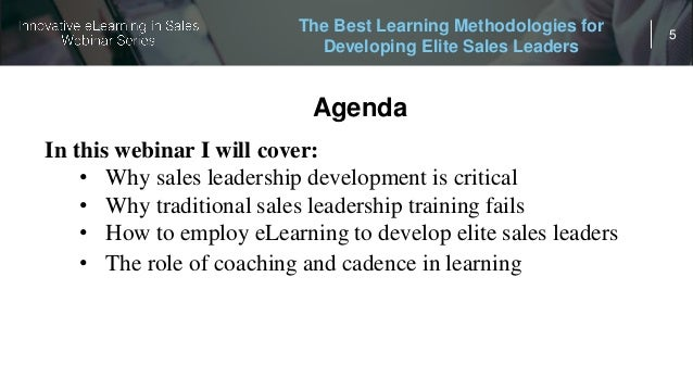 Innovative eLearning in Sales: The Best Learning Methodologies for De…