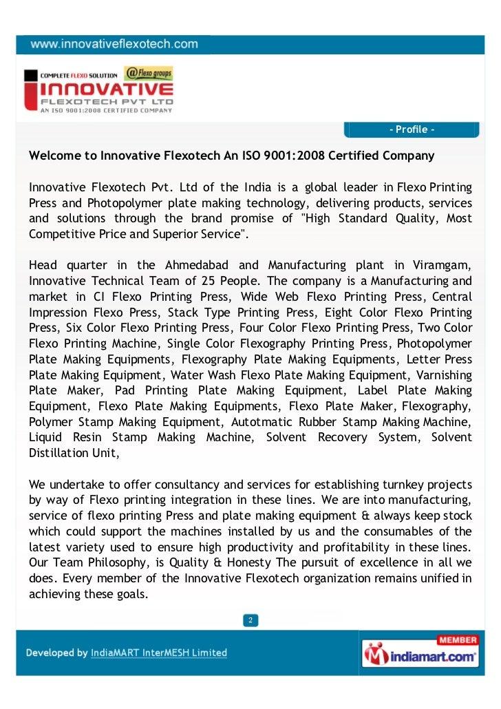 Innovative Flexotech Pvt  Ltd, Ahmedabad, Flexo Printing