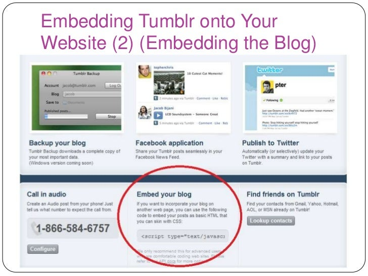 Innovative Idea Assignment Presentation- Implementing Tumblr