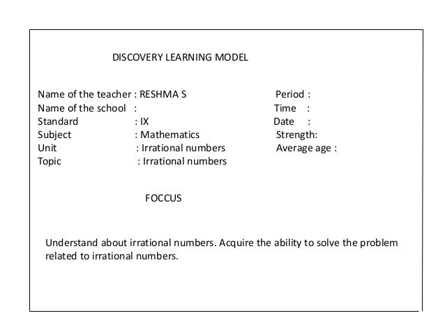 Innovative lesson plan Slide 2