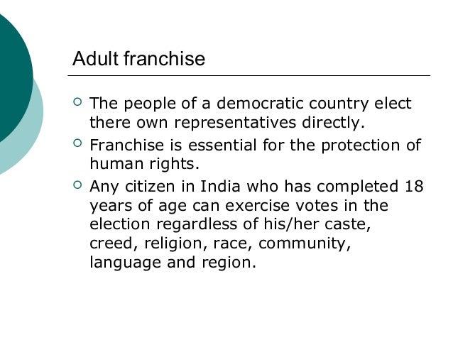 universal adult franchise definition