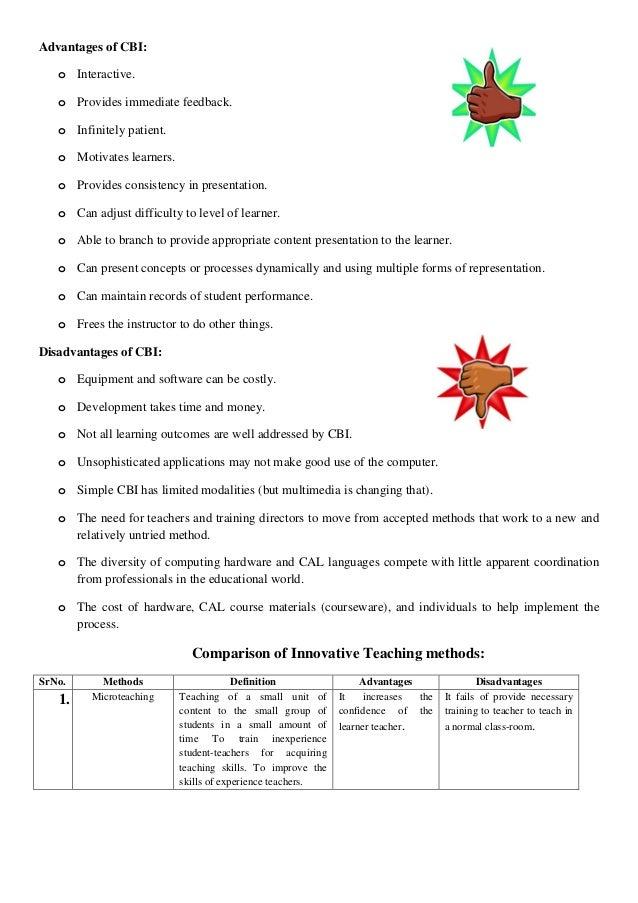 Innovative method of teaching