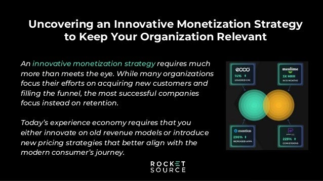 Uncovering an Innovative Monetization Strategy to Keep Your Organization Relevant An innovative monetization strategy requ...