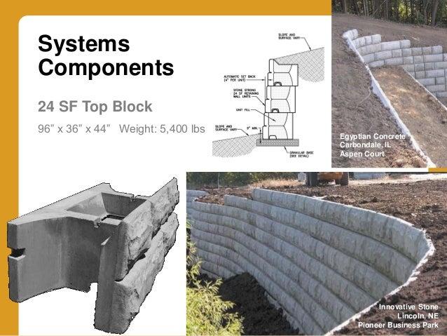 Granite Block Seawall : Innovative retaining wall systems