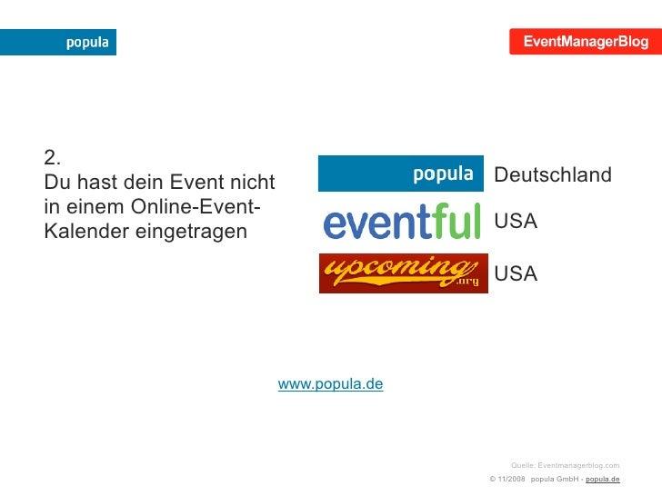 Mehr Erfolg mit der eigenen Veranstaltung! Slide 3