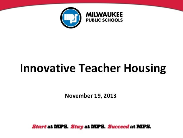 Innovative Teacher Housing November 19, 2013