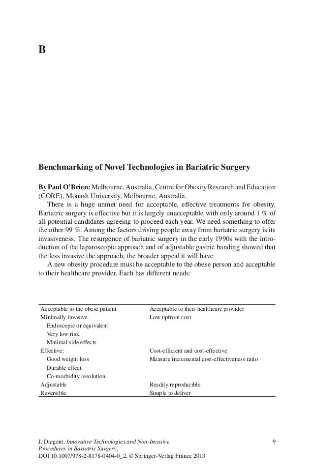 9J. Dargent, Innovative Technologies and Non-InvasiveProcedures in Bariatric Surgery,DOI 10.1007/978-2-8178-0404-0_2, © Sp...