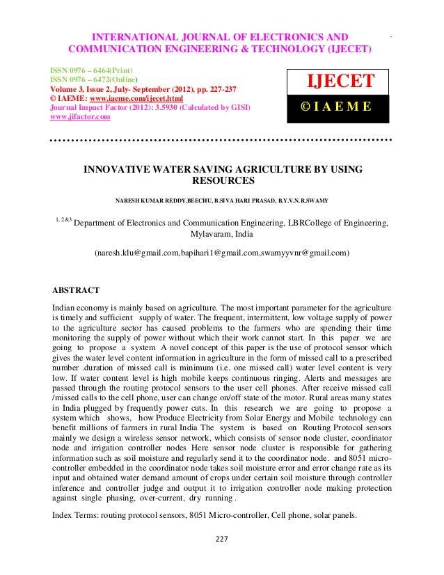 InternationalINTERNATIONAL Communication Engineering & Technology (IJECET), ISSN 0976 –              Journal of Electronic...