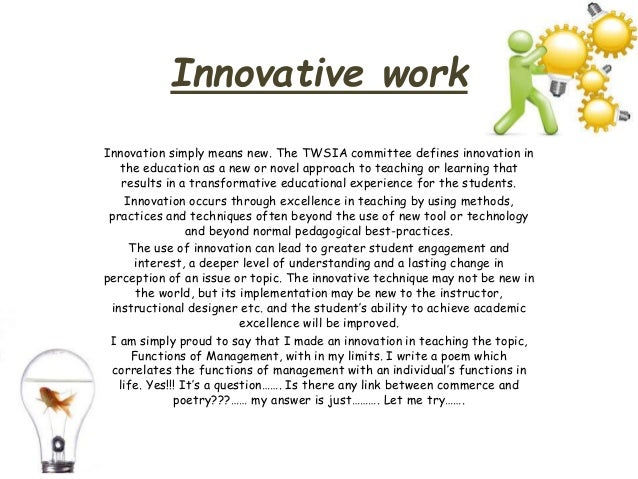 innovative work ppt