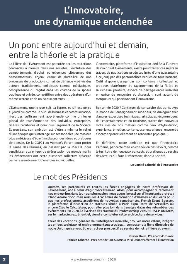 Innovatoire - revue papier#2 - dynamique de communautes - edition 2020 Slide 2