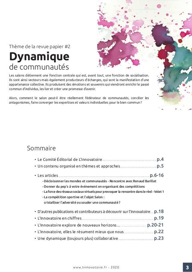 Innovatoire - revue papier#2 - dynamique de communautes - edition 2020 Slide 3