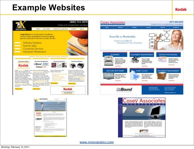Innovaxis ECM Marketing Presentation: Kodak Reseller Conference 2011