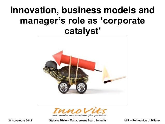 Innovation, business models and manager's role as 'corporate catalyst'  21 novembre 2013  Stefano Mizio – Management Board...
