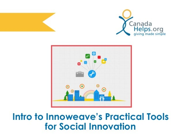 Intro to Innoweave's Practical Tools for Social Innovation