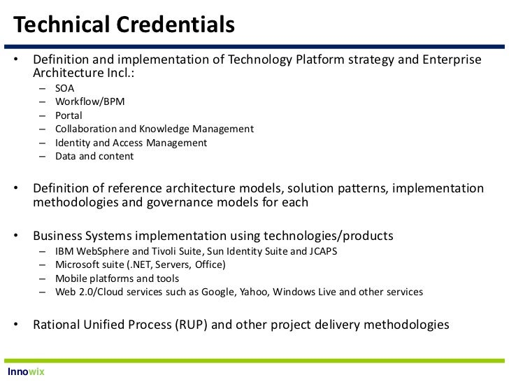 Innowix It Architecture Consulting Services Overview