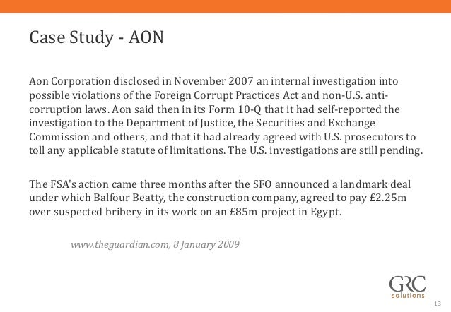 due diligence case study