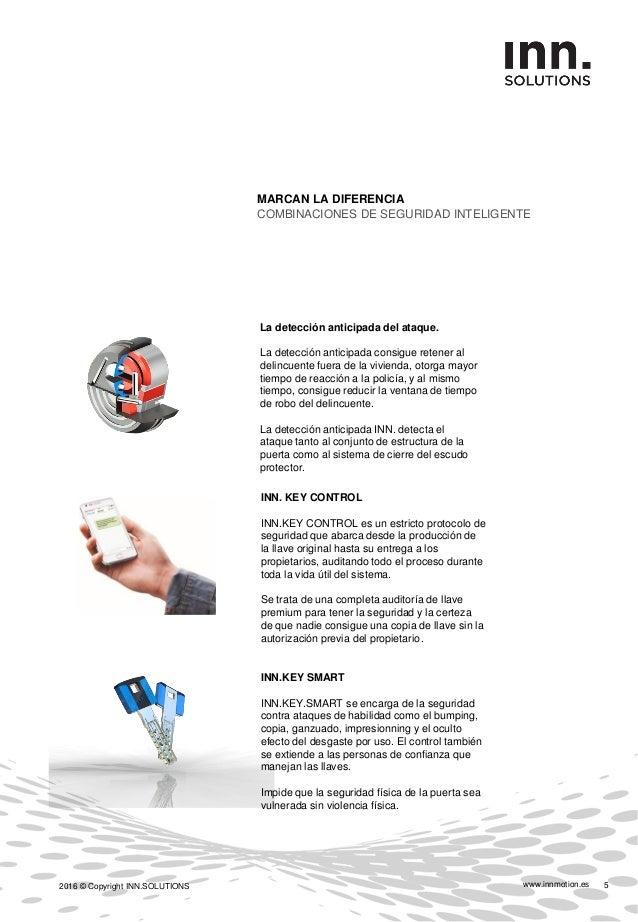 www.innmotion.es2016 © Copyright INN.SOLUTIONS 6 CARACTERÍSTICAS CONSTRUCTIVAS BENEFICIOS RESISTENCIA AL FUEGO   Ei30´ Pro...