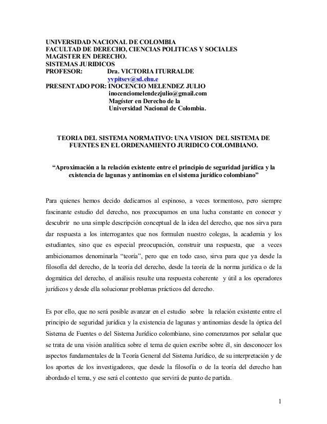 UNIVERSIDAD NACIONAL DE COLOMBIAFACULTAD DE DERECHO, CIENCIAS POLITICAS Y SOCIALESMAGISTER EN DERECHO.SISTEMAS JURIDICOSPR...
