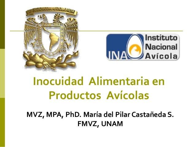 Inocuidad Alimentaria en    Productos AvícolasMVZ, MPA, PhD. María del Pilar Castañeda S.             FMVZ, UNAM